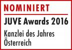 JUVE Awards 2016 Nominiert